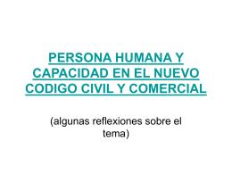 persona humana y capacidad en el nuevo codigo civil y comercial