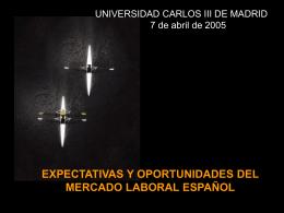 Expectativas y Oportunidades del mercado laboral