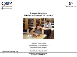 Hábitos y consumo de lectura. - ICTI
