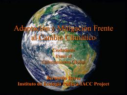 Adaptación o Mitigación Frente al Cambio Climático?