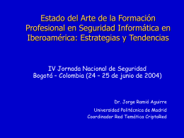 Estado del arte Formación SI Iberoamérica