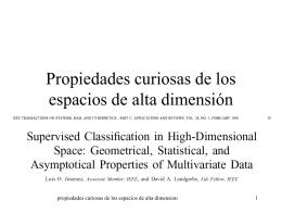 Propiedades curiosas de los espacios de alta dimensión