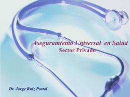 Presentación Jorge Ruíz