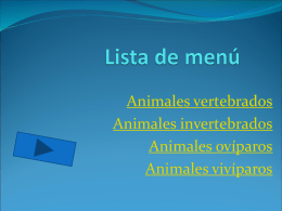 Lista de menú