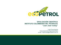 Visita del señor Presidente de Ecopetrol S.A al ICP