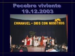 Emmanuel – Dios con nosotros