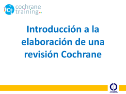 Obtención de datos - Cochrane Training