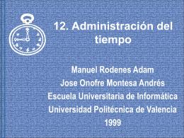 12. Administración del tiempo.