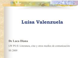 """Diana De Luca: Luisa Valenzuela: """"Donde viven las águilas"""""""