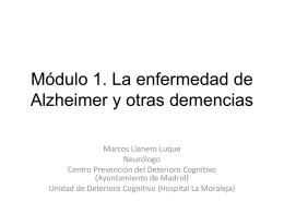 Módulo 1. La enfermedad de Alzheimer