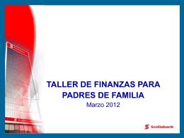 taller de finanzas para padres de familia