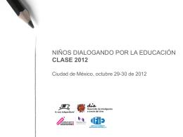 Niños dialogando por la Educación CLASE 26 octubre 2010 México