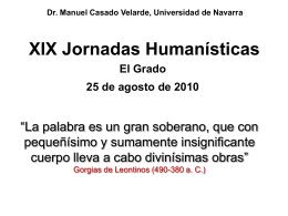 Presentación de Manuel Casado