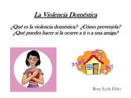 Acceda a una presentación sobre Violencia Doméstica