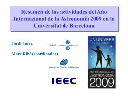 Año Internacional de la Astronomía 2009 en España