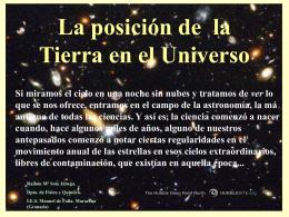 La posición de la Tierra en el Universo V 5.0