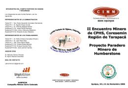 Ver Triptico Proyecto Paradero Minero de Humberstone