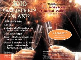 2010 Paquete Fin de Año