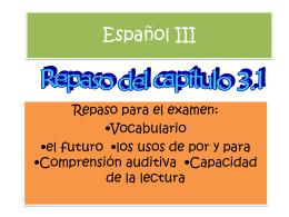 Español III - twhssralawson