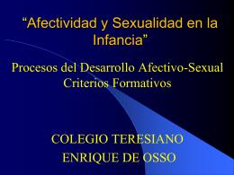 El sexo - Colegio Teresiano Enrique de Ossó