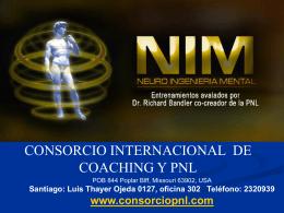 Sistemas Representacionales - Consorcio Internacional de PNL y