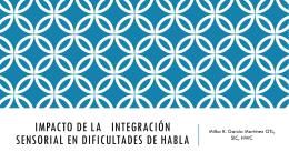 Impacto de Integración Sensorial en Dificultades en Habla