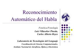 Fundamentos del Reconocimiento Automático del Habla