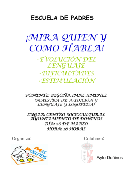¡mira quien y como habla! - Ayuntamiento de Doñinos de Salamanca