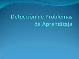 Detección de Problemas de Aprendizaje - OE-360-NEE