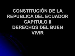 constituciòn de la republica del ecuador capitulo ii