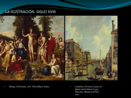 LA ILUSTRACIÓN. SIGLO XVIII