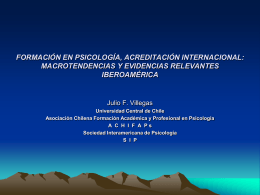 formación en psicología, acreditación internacional