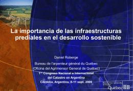La importancia de las infraestructuras prediales en el desarrollo