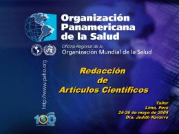 Judith Navarro. Redacción de Artículos Científicos
