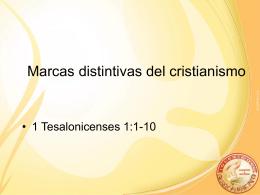 Marcas distintivas del cristianismo