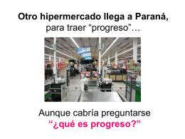 ¿Qué es el progreso? - Por Una Nueva Economía