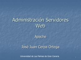 Administración servidor web - Servidor de Información de Sistemas