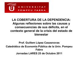 Ponencia de D. Guillem López Casanova