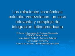 Las relaciones económicas colombo-venezolanas