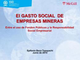 El GASTO SOCIAL de las EMPRESA MINERAS Entre el uso de
