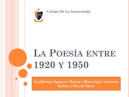 La Poesía entre 1920 y 1050