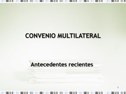 Convenio Multilateral – Antecedentes