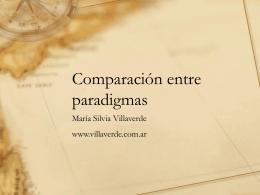 Comparación entre paradigmas