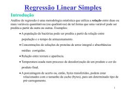 Análise de regressão linear simples