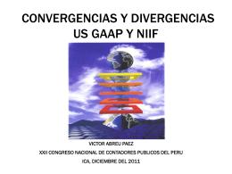 US GAAP Y NIIF: Convergencias y divergencias.