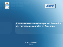 PowerPoint Template - Comisión Nacional de Valores
