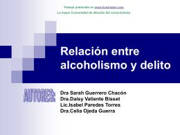 Relación entre alcoholismo y delito