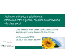 Jubilación anticipada y salud mental: interacción entre el