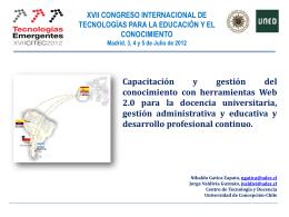 Una experiencia internacional Formación en la Web 2.0 entre