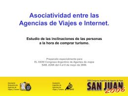Asociatividad entre Agencias e Internet